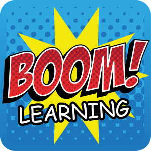 boom learning icon words